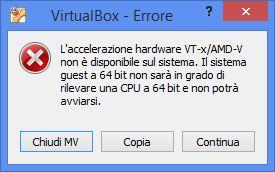 Finestra di errore L'accelerazione hardware non è disponibile sul sistema
