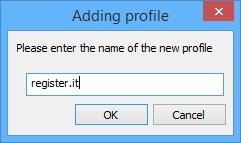 Notepad++: Finestra Adding profile di NppFTP