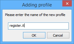 Notepad++: Finestra Adding profile di NppFTP