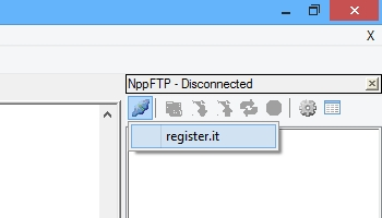 Notepad++: Comando Connect di NppFTP